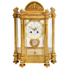 French 19th Century Louis XVI Style Ormolu Mantel Clock