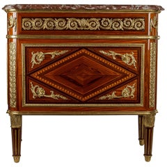 French 19th Century Louis XVI Style Ormolu-Mounted Commode after J F Leleu