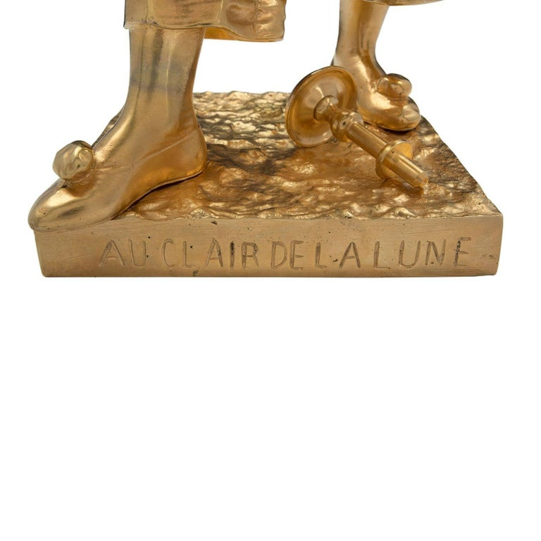 French 19th Century Louis XVI Style Ormolu Statue of