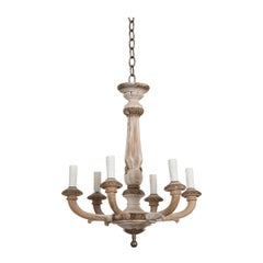 French 19th Century Louis XVI Style Painted Chandelier