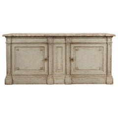 French 19th Century Louis XVI Style Patinated Two Door Cabinet/Buffet