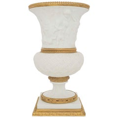 French 19th Century Louis XVI Style Porcelain and Ormolu Medici Designed Vase