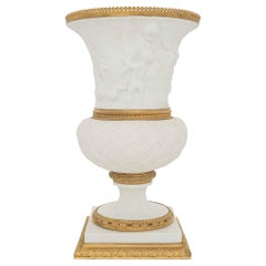 French 19th Century Louis XVI Style Porcelain and Ormolu Medici Designed Vase