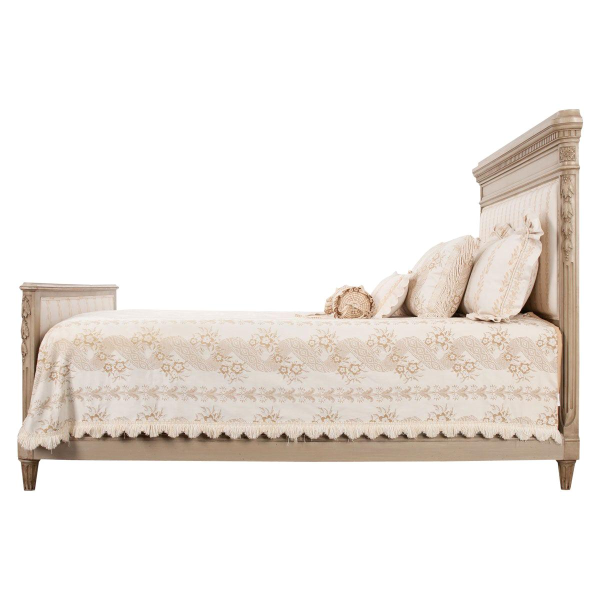 French 19th Century Louis XVI Style Queen Painted Bed
