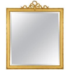 French 19th Century Louis XVI Style Rectangular Giltwood Mirror