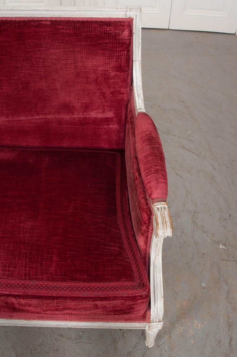 French 19th Century Louis XVI-Style Settee In Good Condition For Sale In Baton Rouge, LA