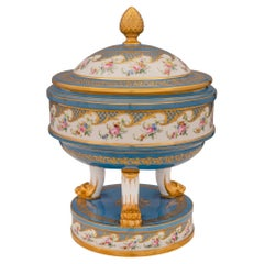 French 19th Century Louis XVI Style Sèvres Porcelain Lidded Tureen