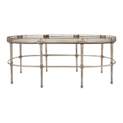 French 19th Century Louis XVI Style Silvered Bronze Coffee Table