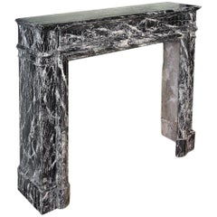 French 19th Century Louis XVI Style St Laurent Marble Mantel