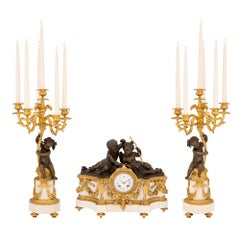 French 19th Century Louis XVI Style Three-Piece Garniture Set