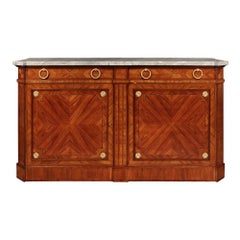French 19th Century Louis XVI Style Tulipwood and Kingwood Buffet