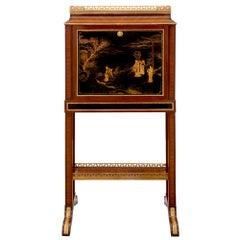 French 19th Century Louis XVI Style Tulipwood Kingwood and Ebony Drop Front Desk