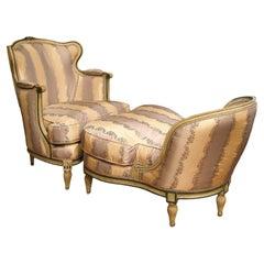 French 19th Century Louis XVI Style Two Piece Lounge Set