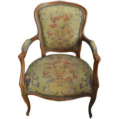 French 19th Century Louis XVI Style Upholstered Armchair