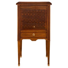 French 19th Century Louis XVI Style Walnut and Ormolu Side Table