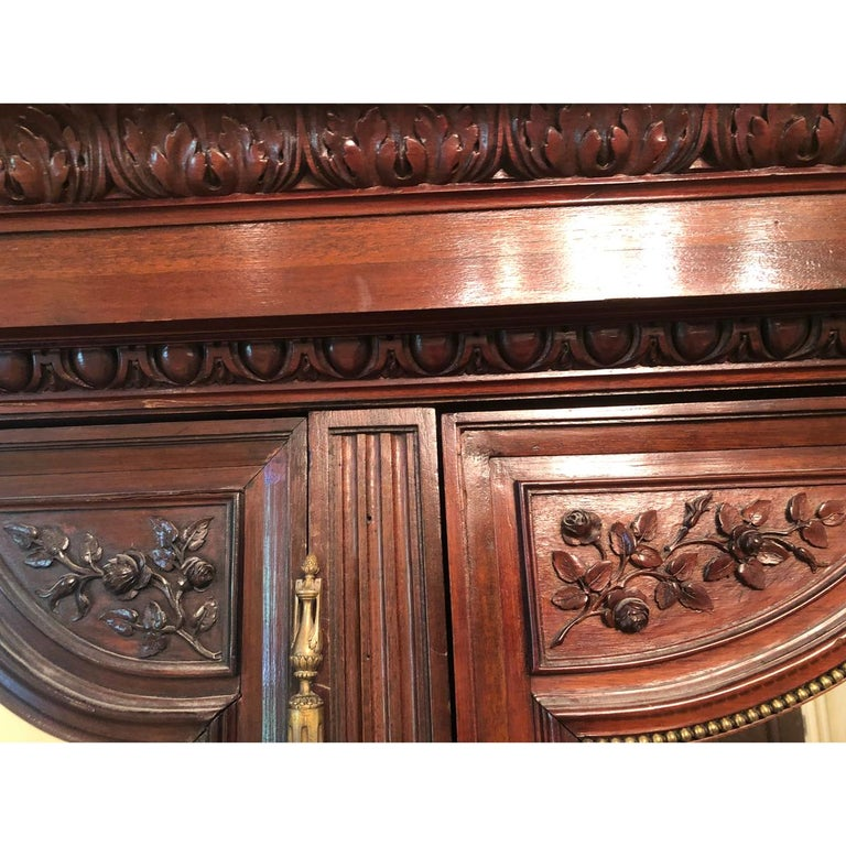 French 19th Century Mahogany Armoire For Sale 7