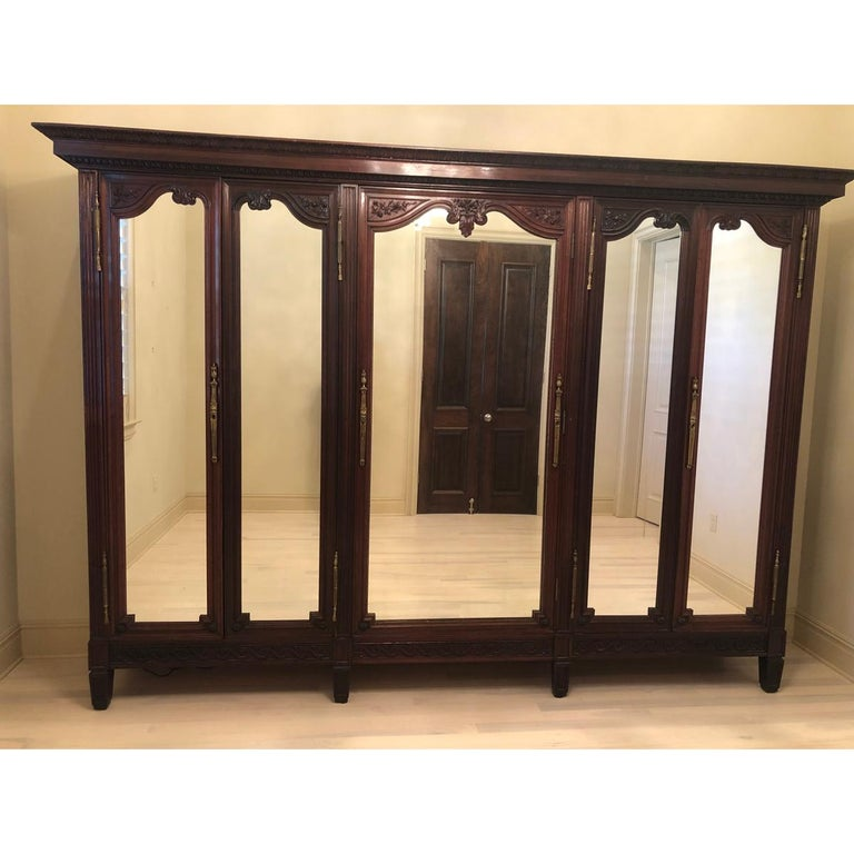 French 19th Century Mahogany Armoire For Sale 8