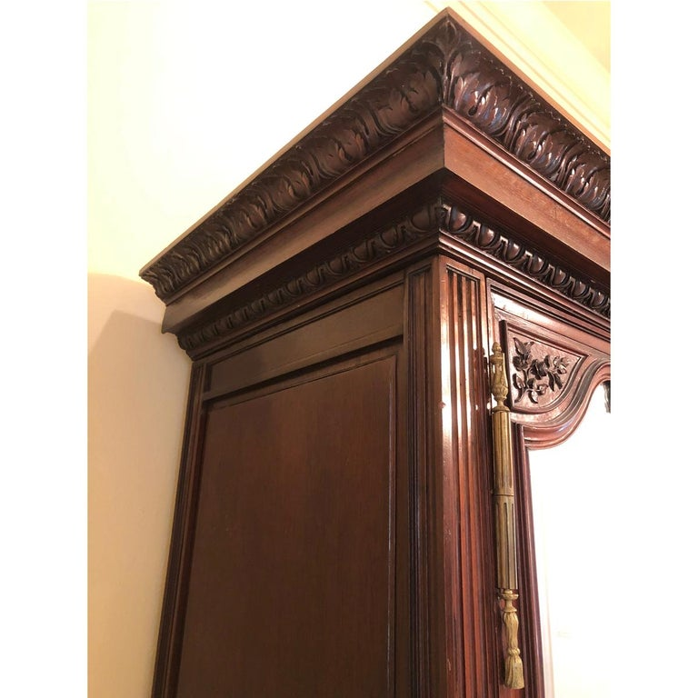 French 19th Century Mahogany Armoire For Sale 4