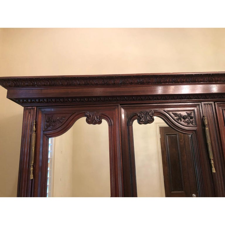 French 19th Century Mahogany Armoire For Sale 5