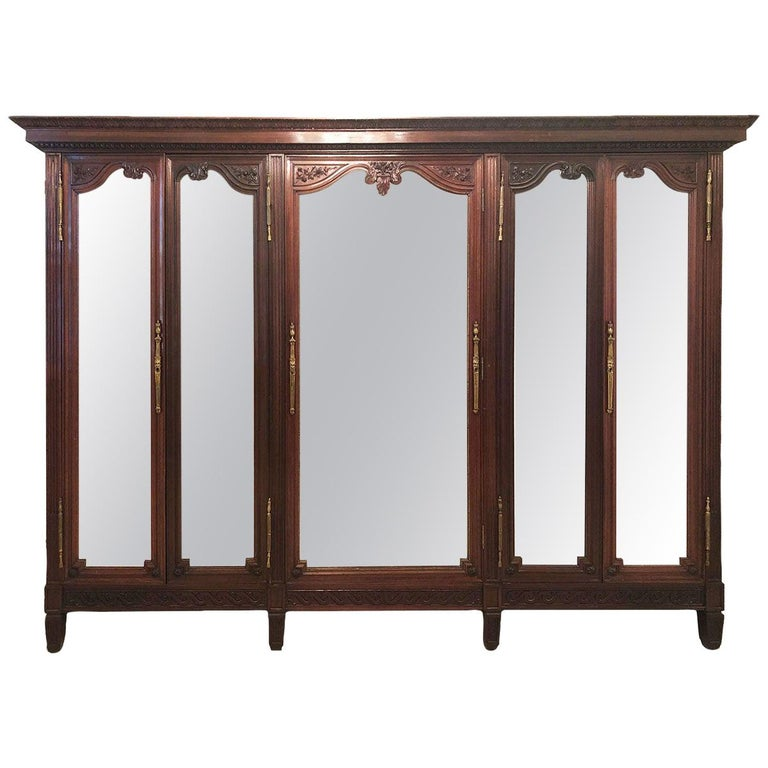 French 19th Century Mahogany Armoire For Sale