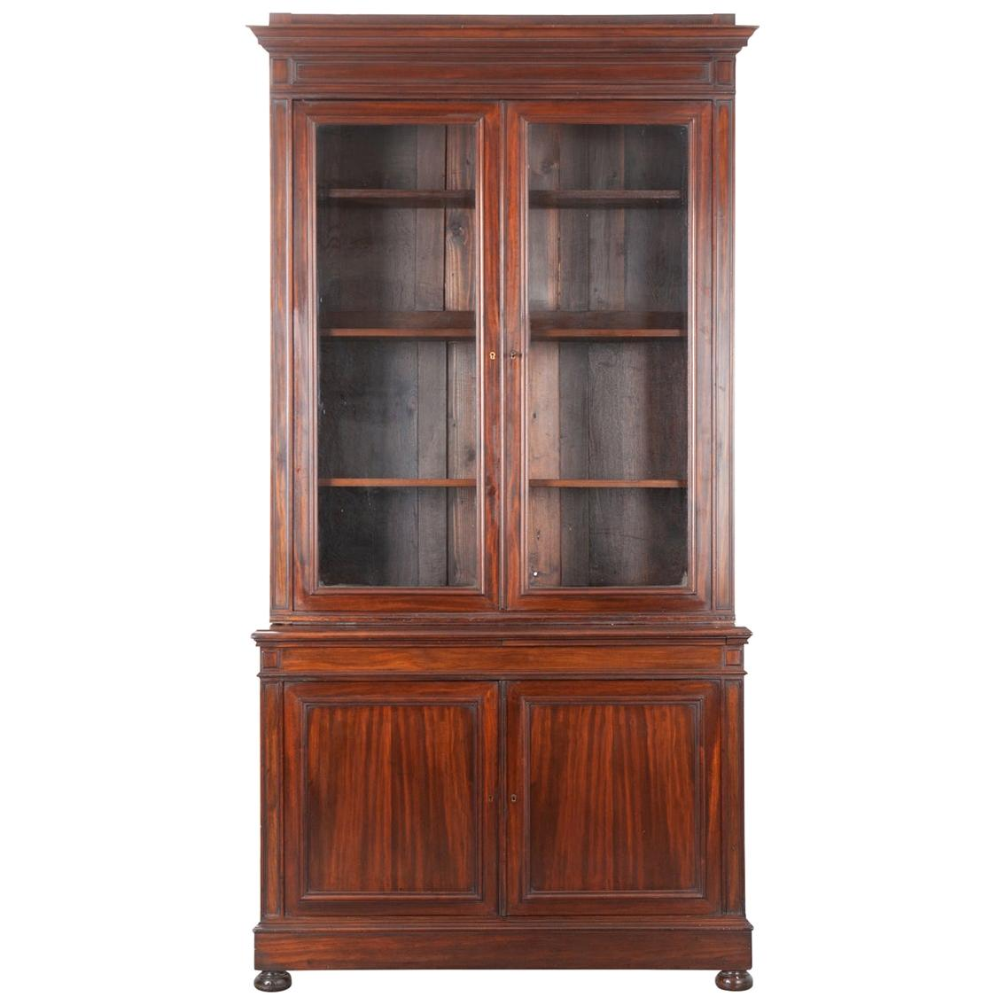 French 19th Century Mahogany Buffet à Deux Corps