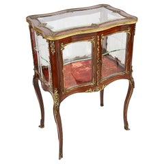 French 19th Century Mahogany Display Cabinet