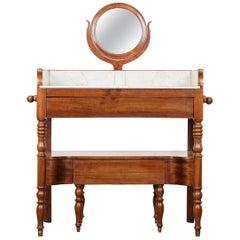 French 19th Century Mahogany Dressing Table