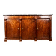 French 19th Century Mahogany Empire Enfilade with Marble Top