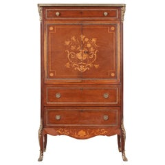 French 19th Century Mahogany Inlaid Cabinet