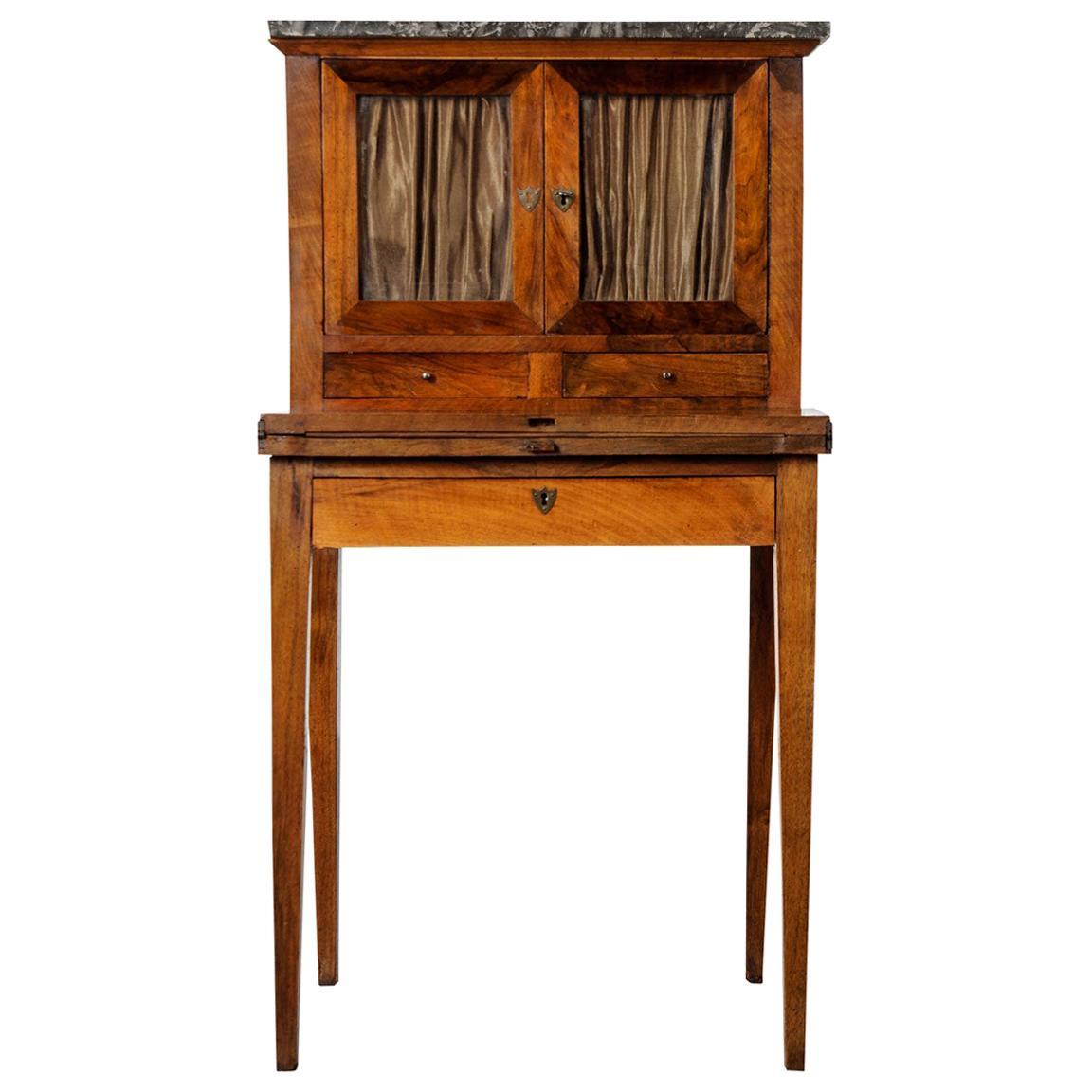 French 19th Century Mahogany Ladies Desk