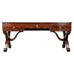 French 19th Century Mahogany Library Desk