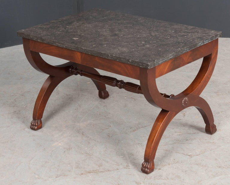 French 19th Century Mahogany Restauration Coffee Cocktail Table In Good Condition For Sale In Baton Rouge, LA