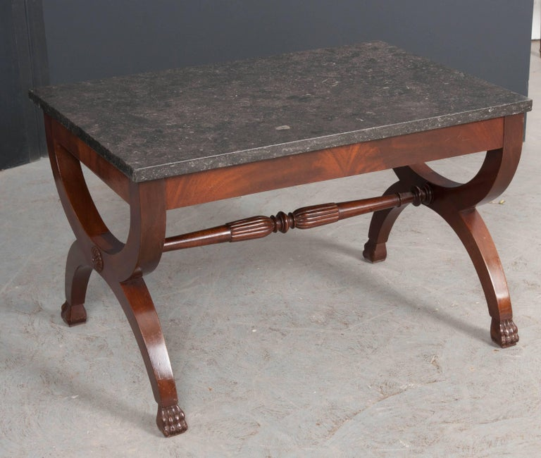 French 19th Century Mahogany Restauration Coffee Cocktail Table For Sale 2