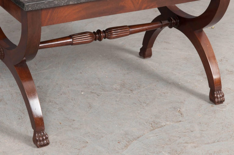 French 19th Century Mahogany Restauration Coffee Cocktail Table For Sale 4