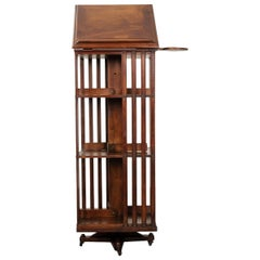 French 19th Century Mahogany Revolving Book Stand