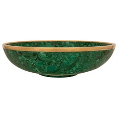 French 19th Century Malachite and Ormolu Centerpiece Bowl