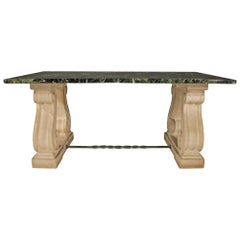 French 19th Century Marble and Limestone Center Table