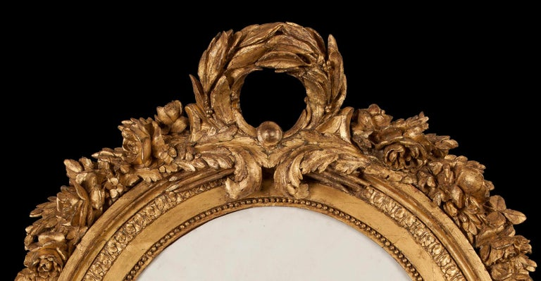 French 19th Century Marble, Bronze and Giltwood Cameo Wall Art In Excellent Condition For Sale In London, GB