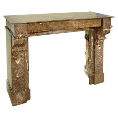 French 19th Century Marble Fireplace Mantel