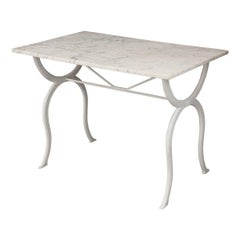 French 19th Century Marble-Top Bistro Table