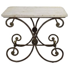 French 19th Century Marble-Top Butcher / Pastry Table