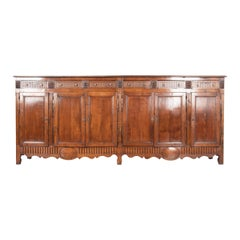 French 19th Century Massive Transitional Walnut Enfilade