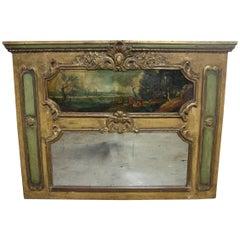 French 19th Century Mirror Trumeau