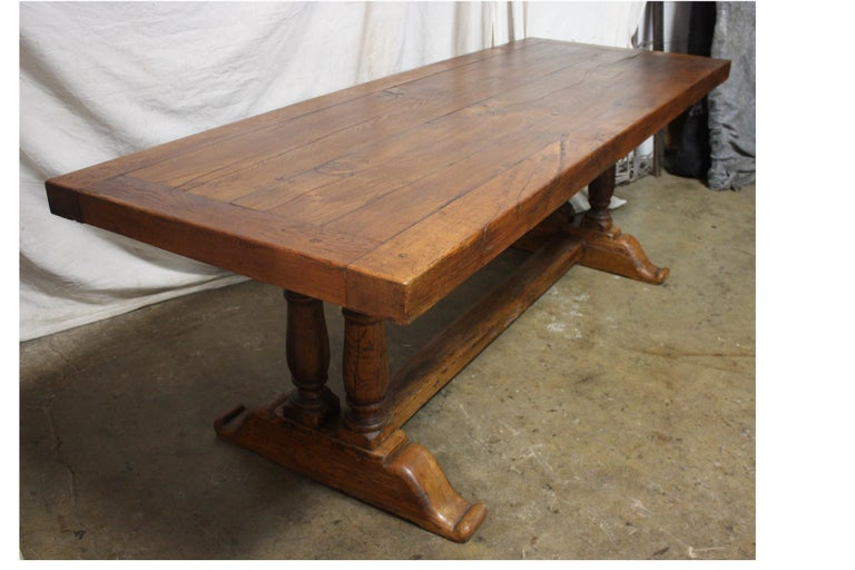 French 19th Century Monastery Table For Sale 5