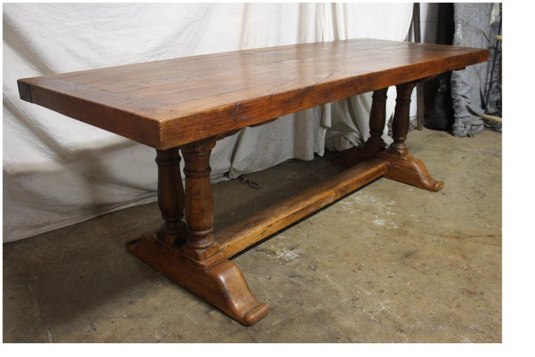 French 19th Century Monastery Table For Sale 6