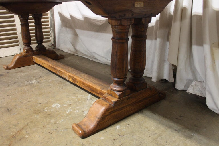 French 19th century monastery table.