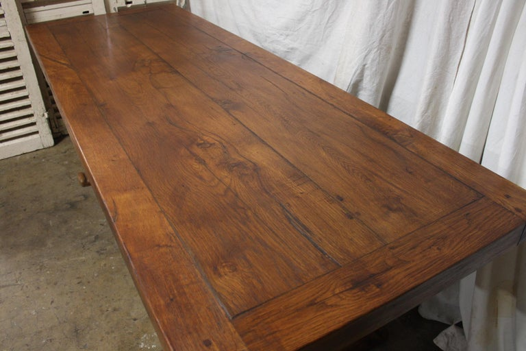Oak French 19th Century Monastery Table For Sale