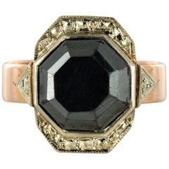 French 19th Century Napoleon 3 Rose Gold Hematite Ring