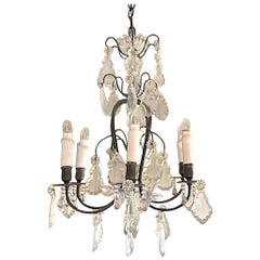 French 19th Century Napoleon III Crystal Chandelier with 6-Light