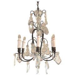 French 19th Century Napoleon III Crystal Chandelier with 6 Lights